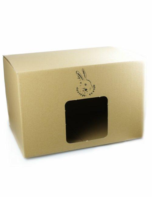 domek z kartonu dla królika