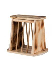 paśnik drewniany stojący na siano dla królika